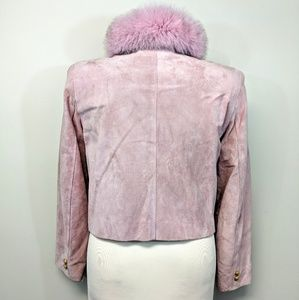 Lord & Taylor Jackets & Coats - Cropped Pink Suede Jacket